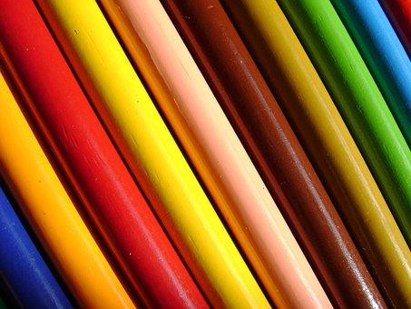colores color lpiz arco iris