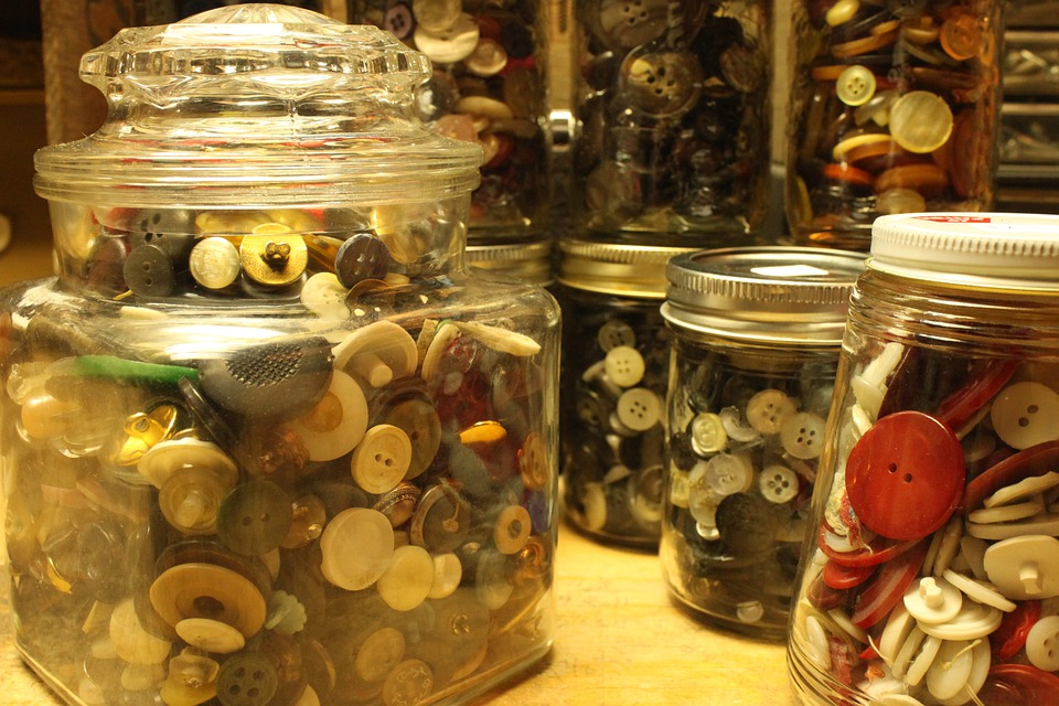 Jars, Containers, Display, Displays, Button, Buttons