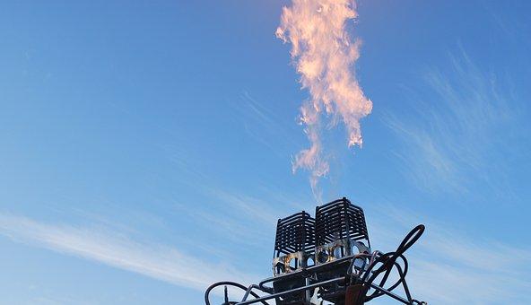 Hot Air Balloon, Burner, Flame, Hot