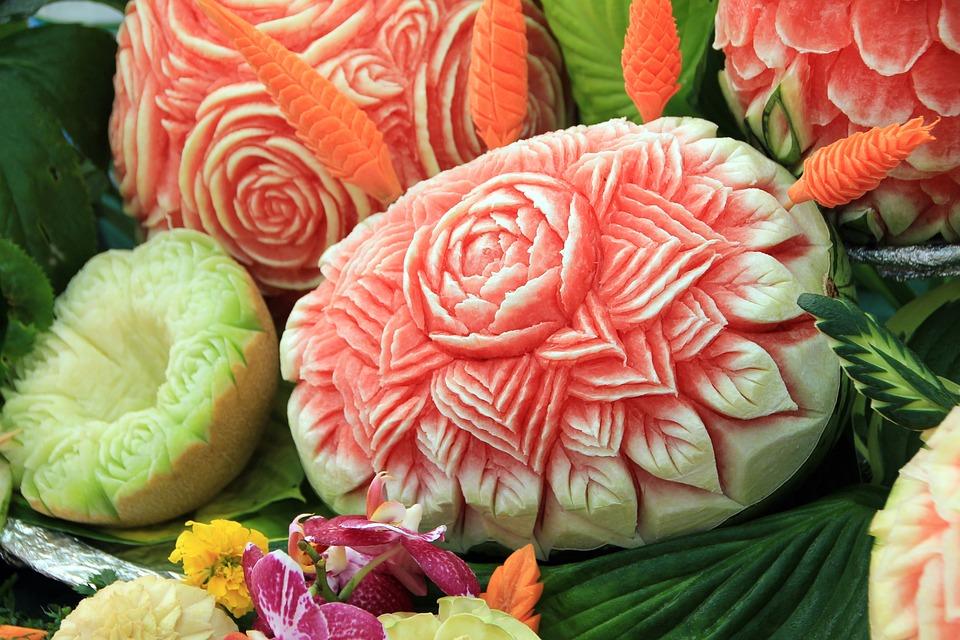 carving z owoców i warzyw