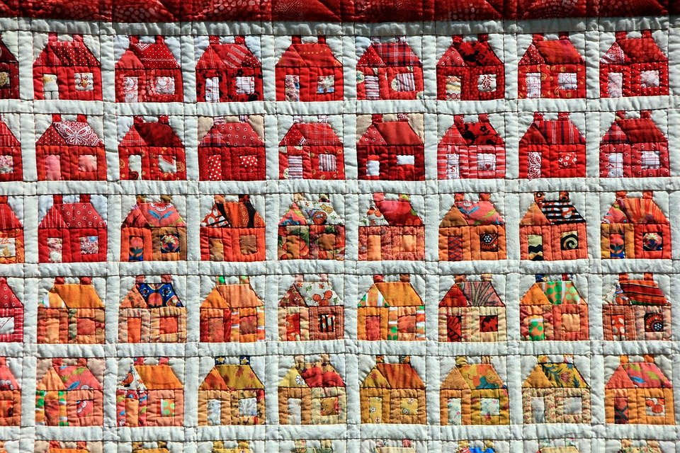 Hand Labor, Sew, Patchwork, House
