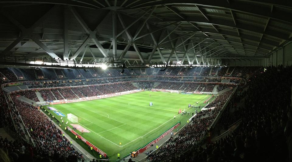 Stadion, Fußball, Rasen, Sport