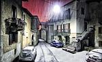 montestrutto, śnieg, piemonte