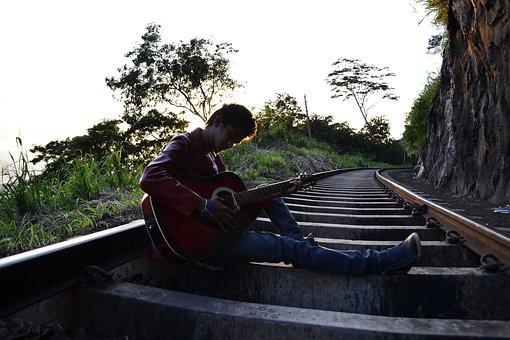 Guitarist, Boy, Pose, Scene, Song