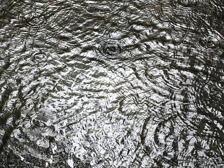 Water, Rain, Pattern, Raindrop
