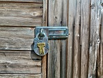garden shed, latch, lock