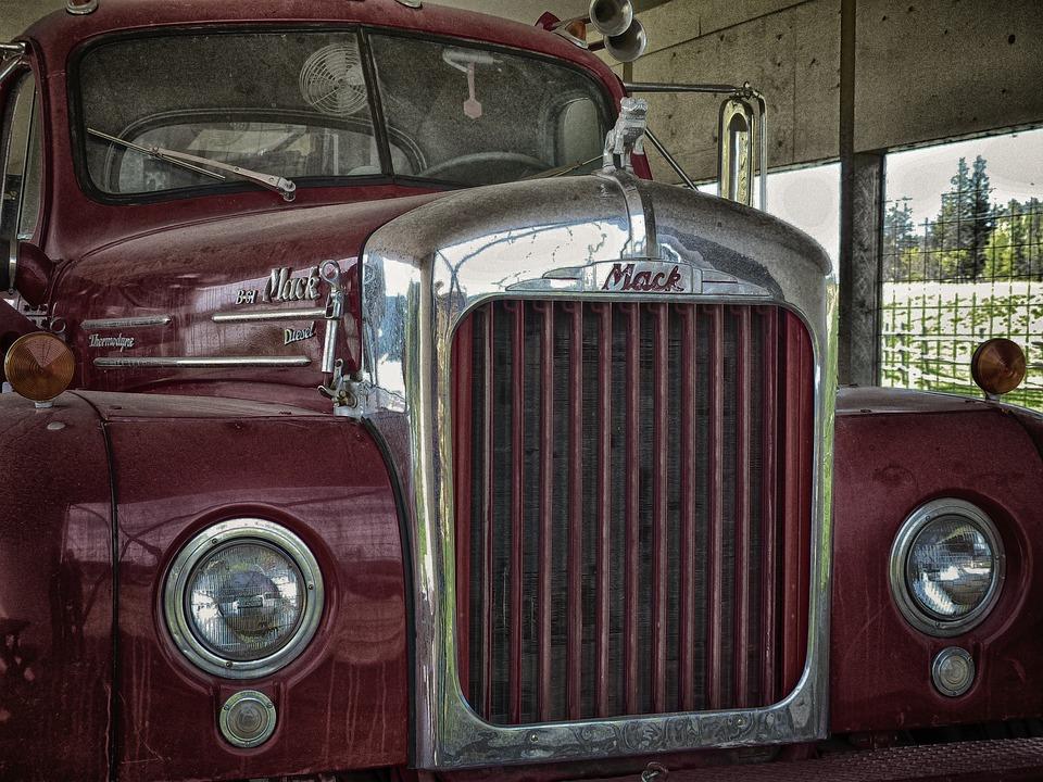 Photo Gratuite Vieux Camion Grumier Red Image