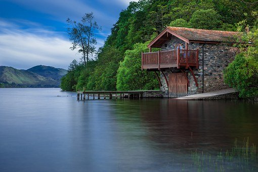 Boat House, Cottage, Waters, Lake