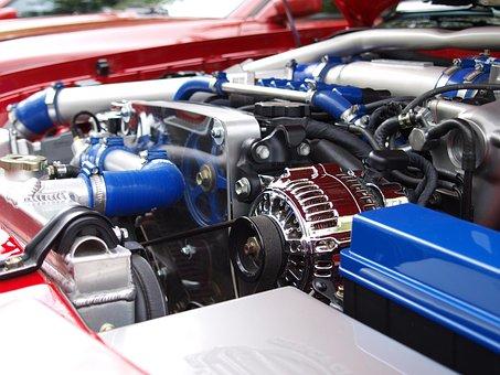 車両, クロム, 技術, 自動車, モーター, エンジン ルーム, スープラ