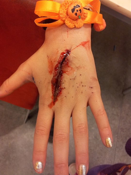 Hand, Wound, Blood, Halloween, Costume, Bloody, Fake