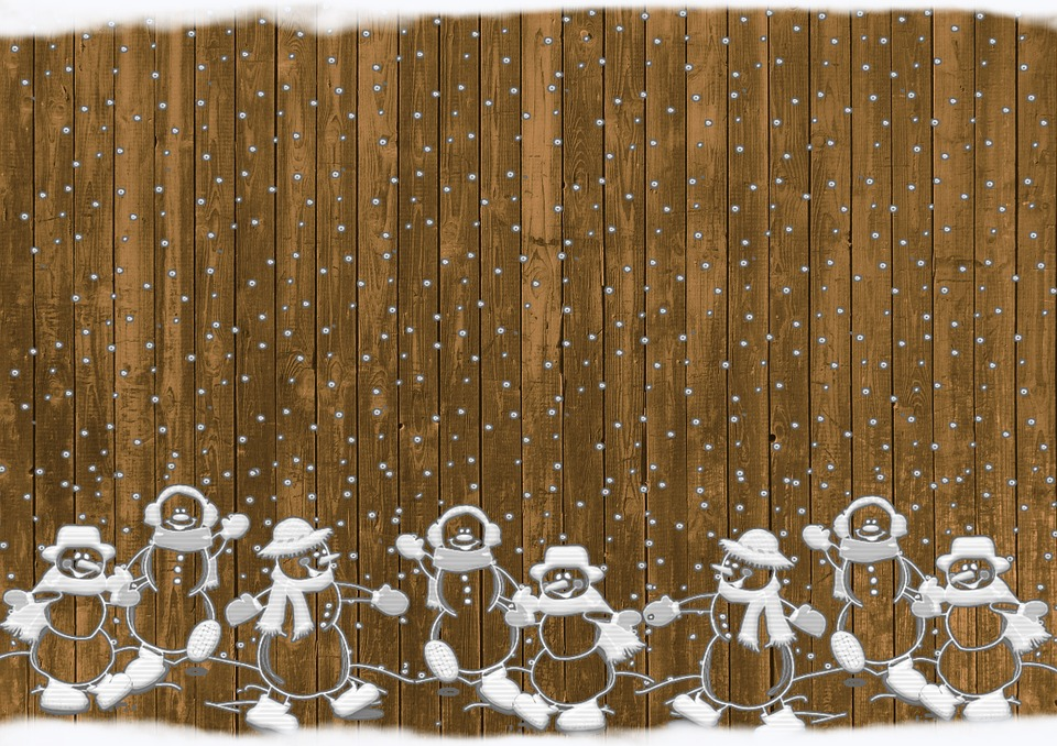 Christmas Snowmen Rustic · Free image on Pixabay