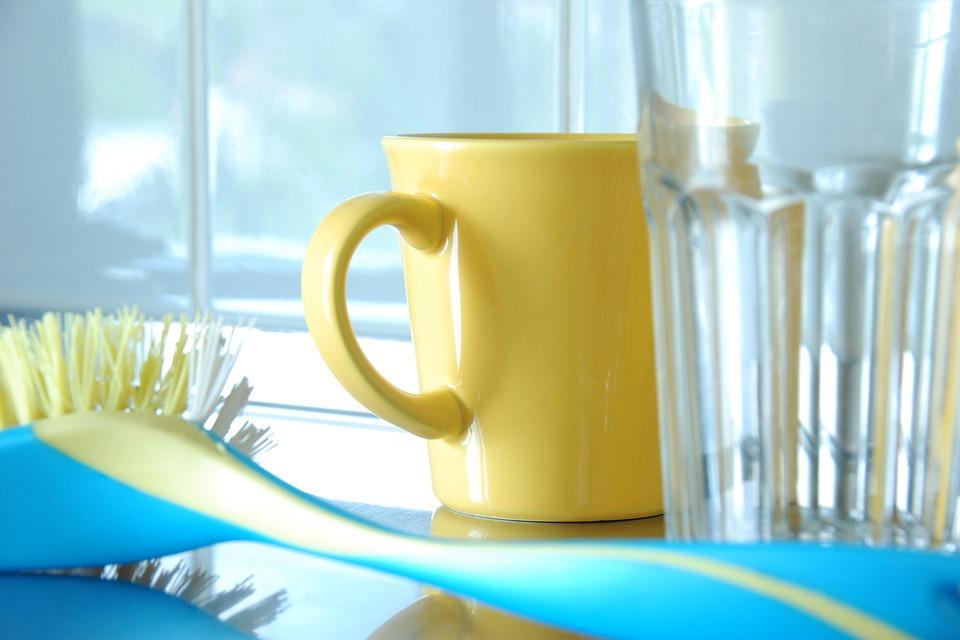 日常生活, お皿を洗う, カップ, ガラス, 食器洗いブラシ, 予算, キッチン, キッチン収納