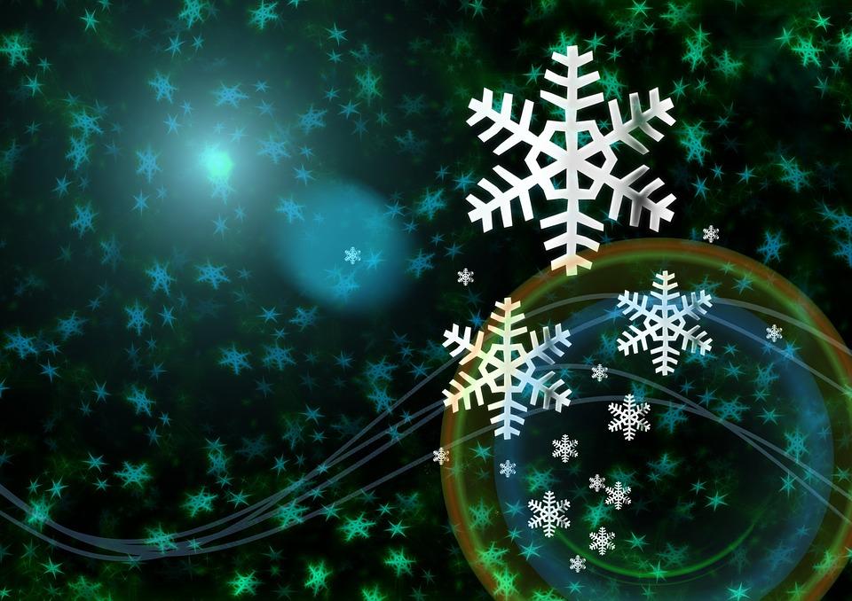 Carte de voeux bleu flocons image gratuite sur pixabay - Photos de neige gratuites ...