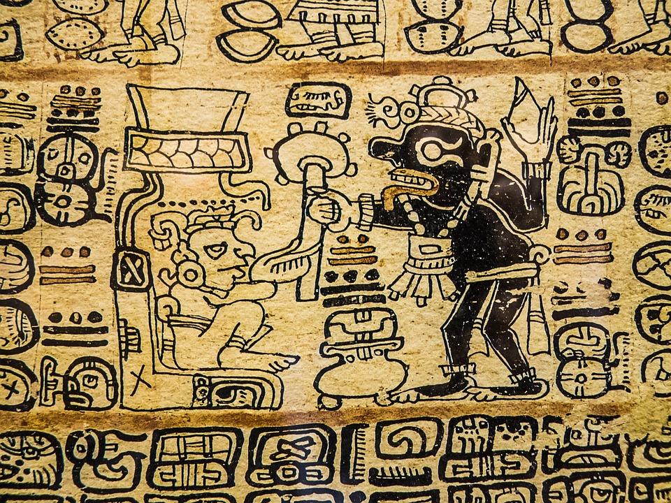 hieroglyphic writing aztecs art