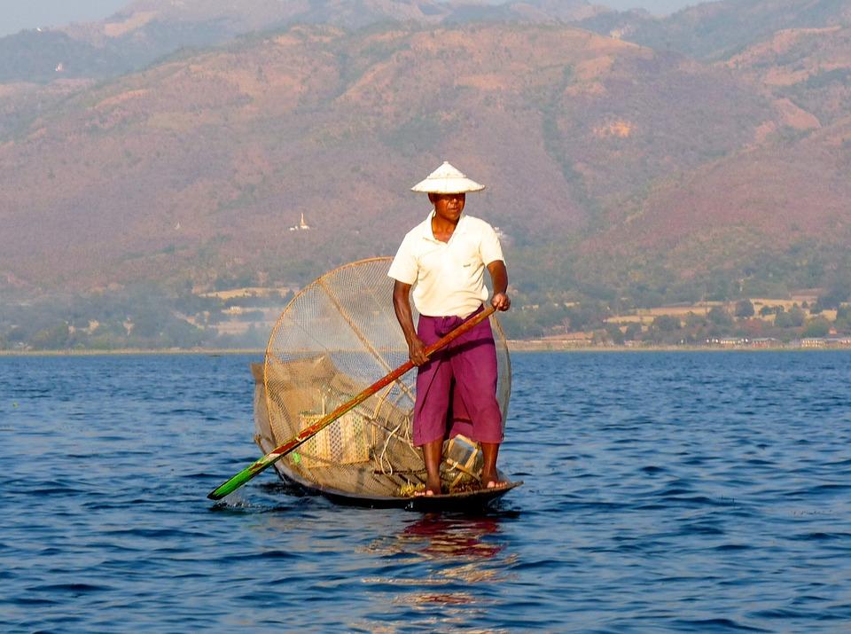 Fisherman Inle Lake Burma Free Photo On Pixabay