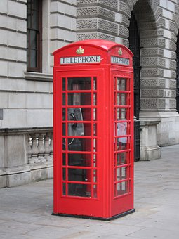 Telephone, Red, London, United Kingdom