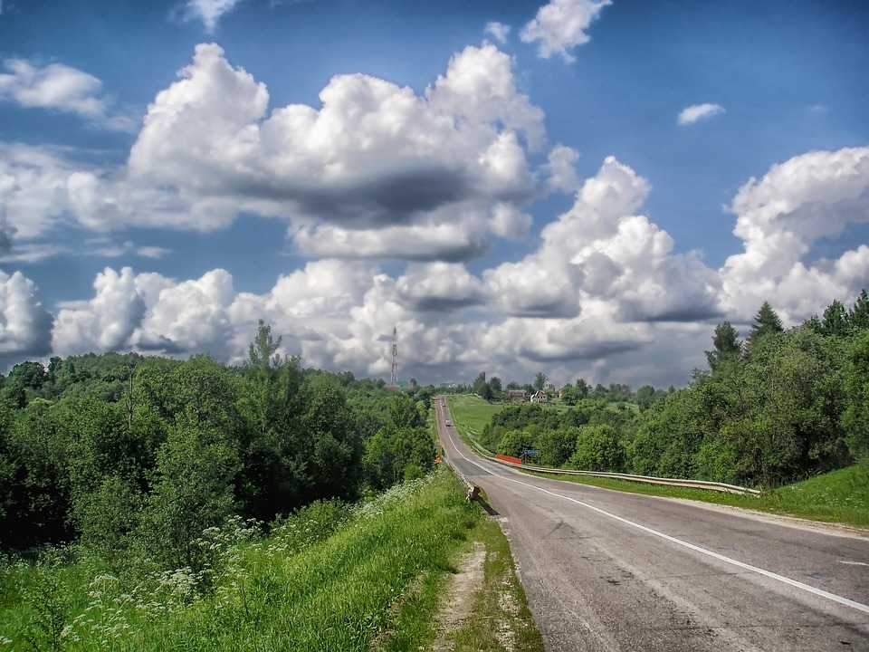Russia, Landscape, Scenic, Sky, Clouds, Summer, Forest
