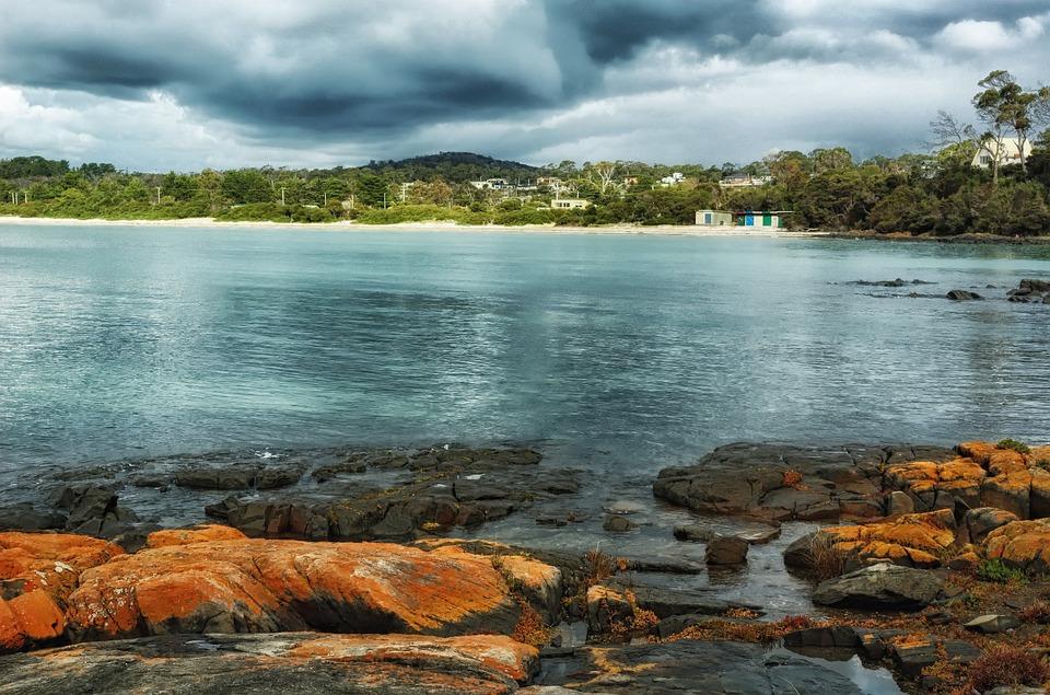 Greens Beach, Tasmania, Australia, Bay, Harbor, Water