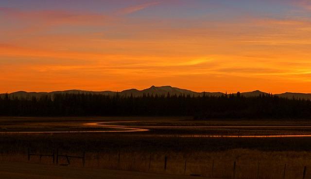 Free Photo Sunset Beautiful Landscape Free Image On
