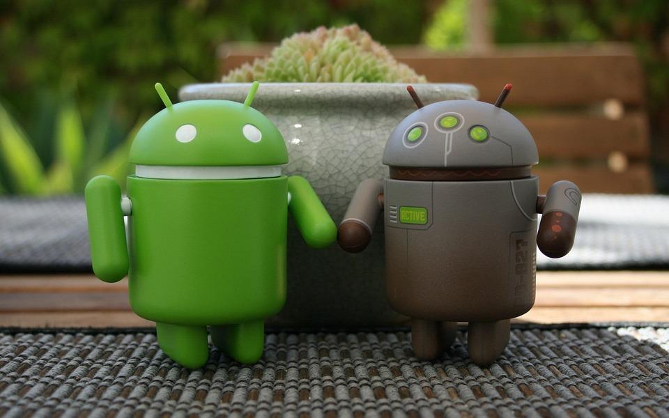 Android, Pareja, Equipo, Tecnología, Hombre, Mujer