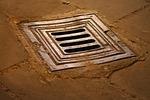 manhole, hole, floor