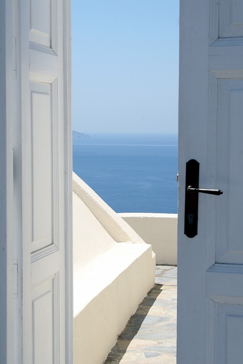 Дверь, Вход, Море