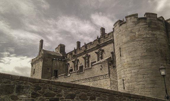 スターリング城, スコットランド, スターリング, 城, 灰色, 胸壁, 壁