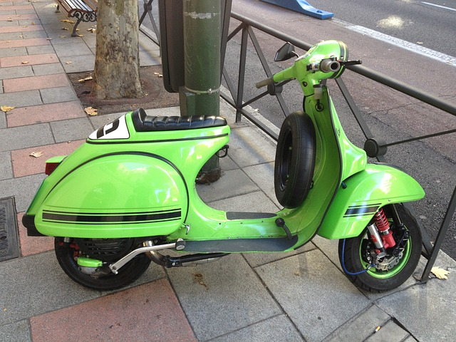 Photo gratuite: Moto, Scooter, Vert, Vieux - Image ...