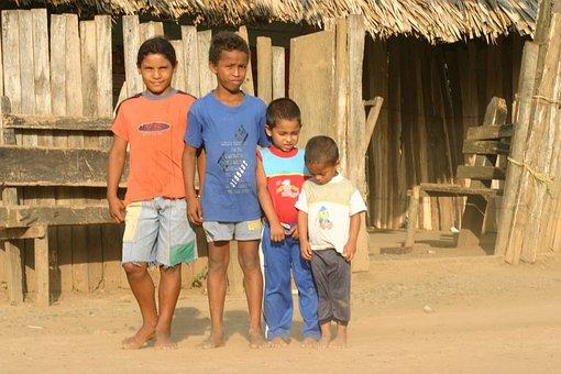 儿童, 哥伦比亚, 玩具, 拖鞋, 集团