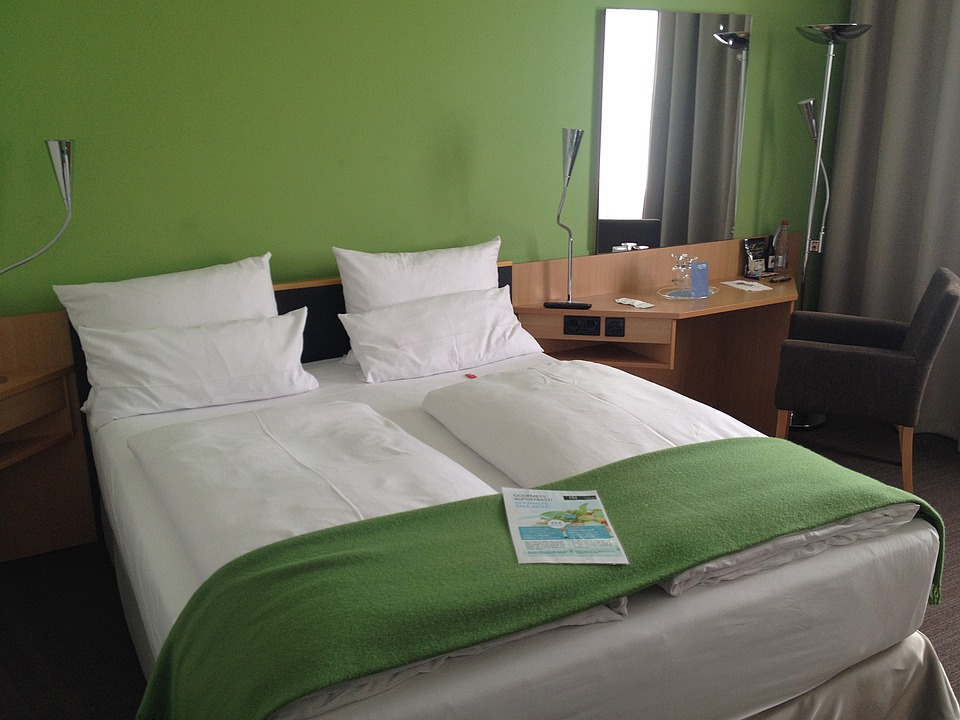 Free Photo Hotel Room Double Bed Stay Image On