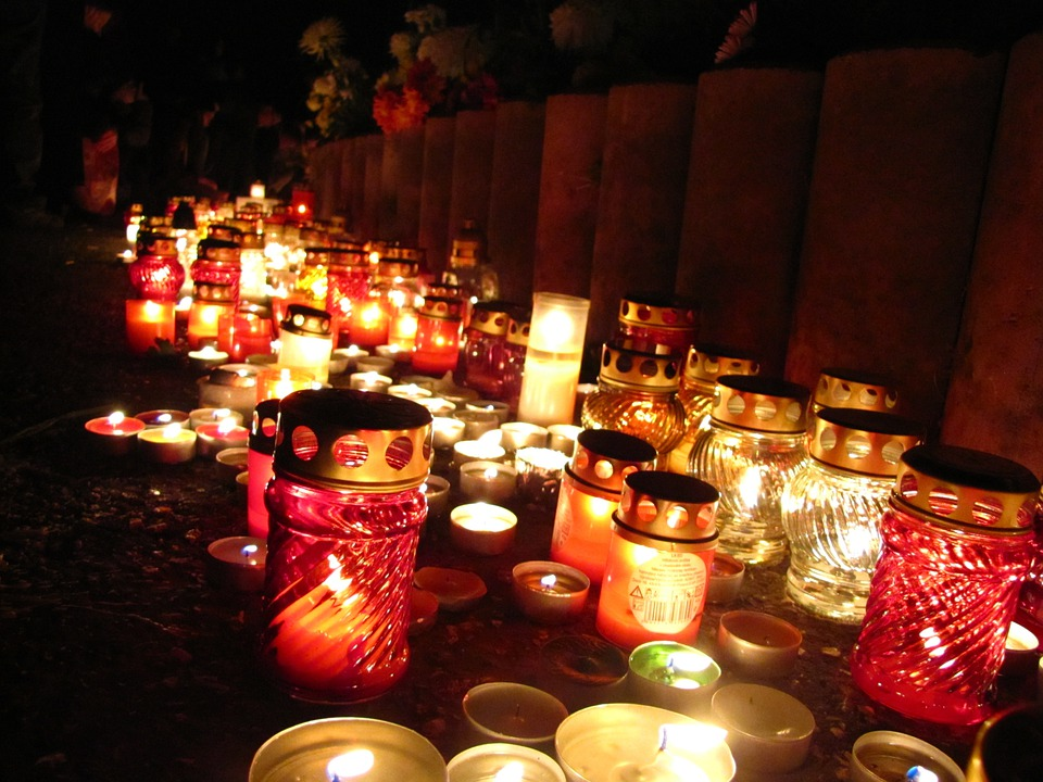 Free Photo Day Of The Dead Candles People Free Image