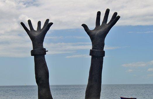 Martinique, Le Prêcheur, Hands, Freedom