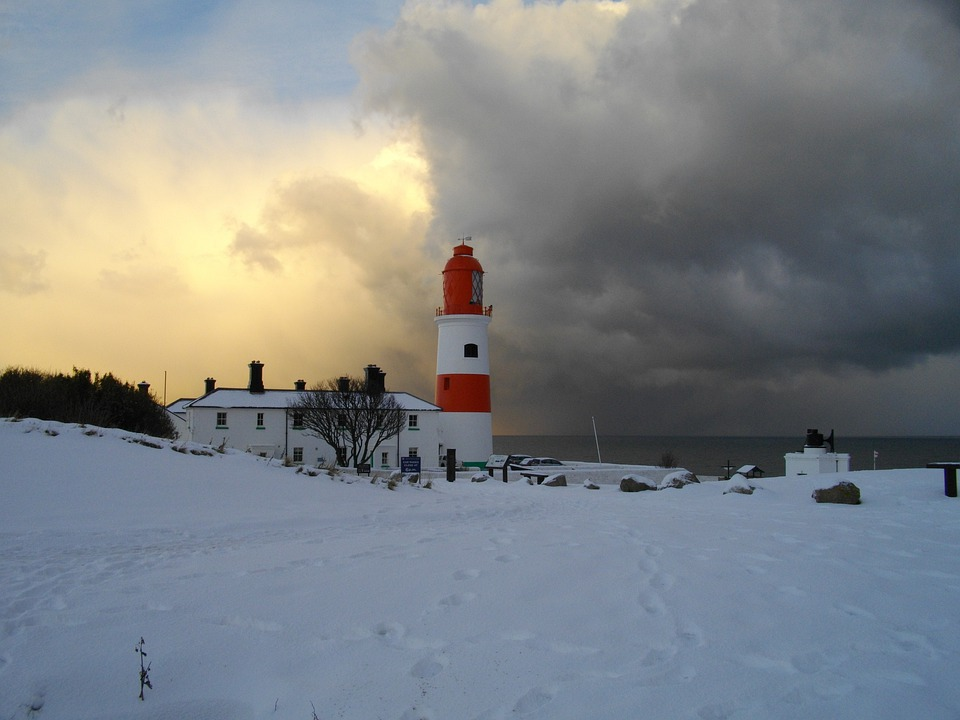 Free Photo Souter Lighthouse Snow Scenic Free Image