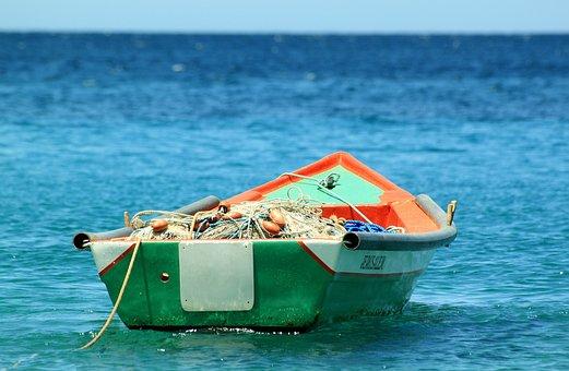 Bateau, De Pêche, Tropique, Océan