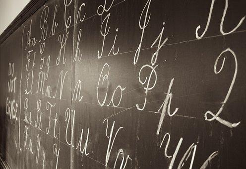 Blackboard, Writing, Chalk, White