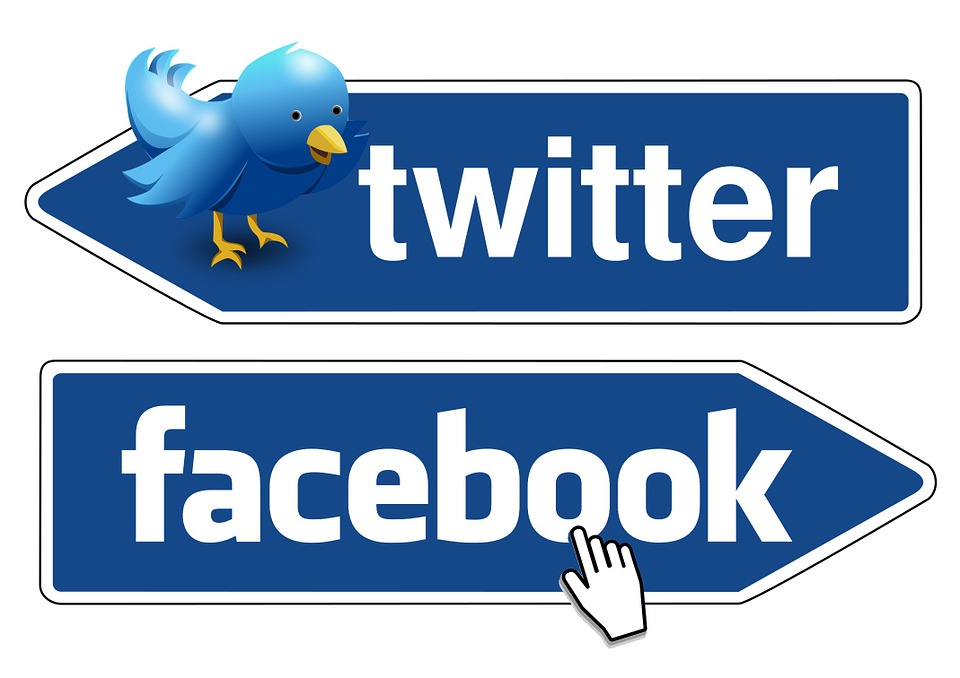 Twitter and Facebook.