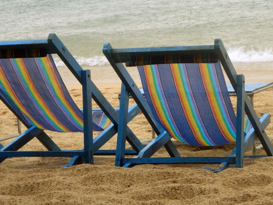 Beach Chairs Chairs Beach Rain Sand