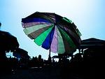 umbrella, blue, sunshade