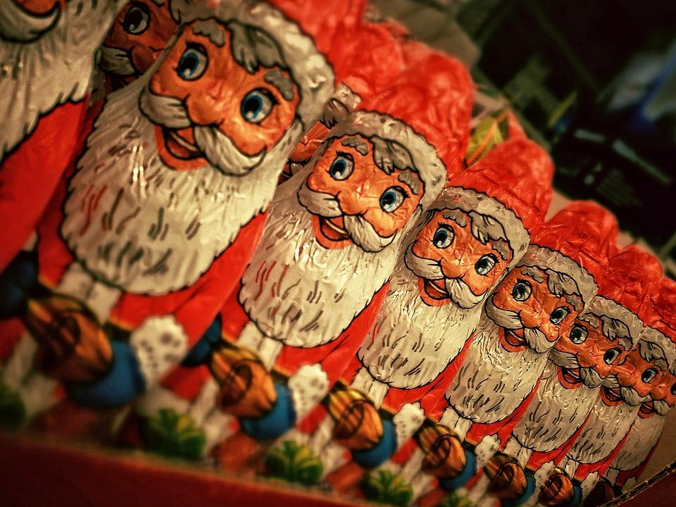 Weihnachtsmann, Schokolade