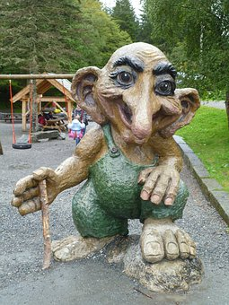 Norwegian Troll, Statue, Holiday