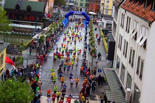 スポーツ, マラソン, レース, 開始レース, 実行, 競争, 開始, 人間