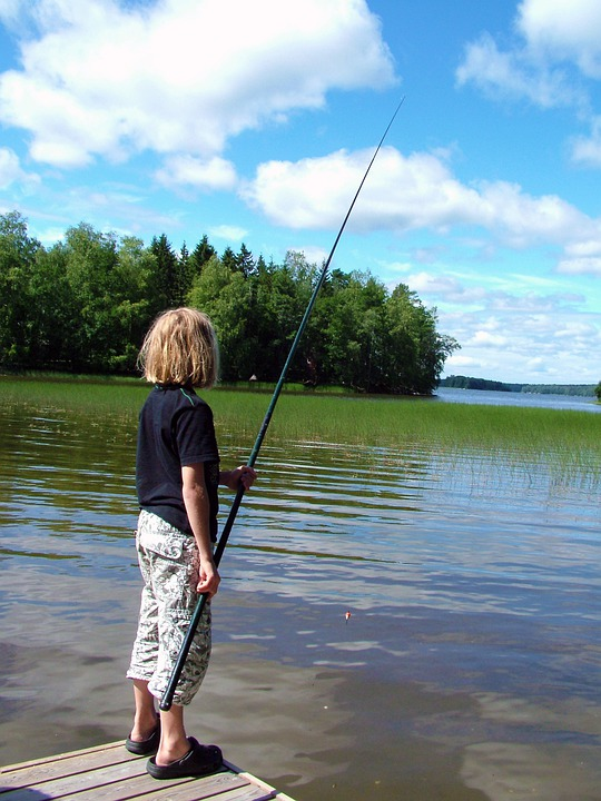 Free photo child fish hook and line pier free image for Free line fishing