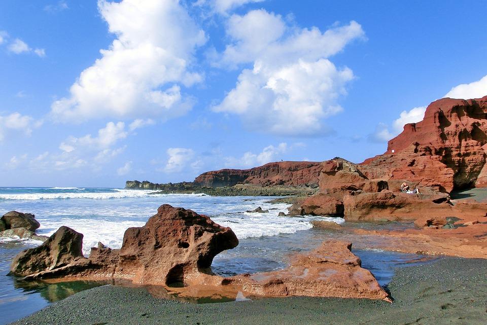 Lanzarote, Summer, Sea