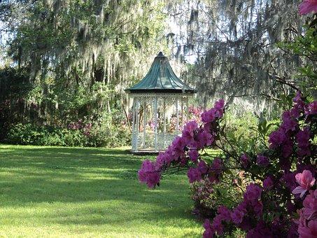 Gazebo Lawn Pavilion Landscaping Scenic Ga