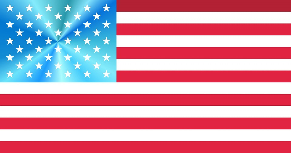 Free Illustration Flag American Usa White Red Free
