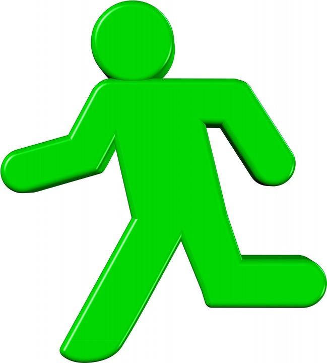Green Running Man Free Image On Pixabay