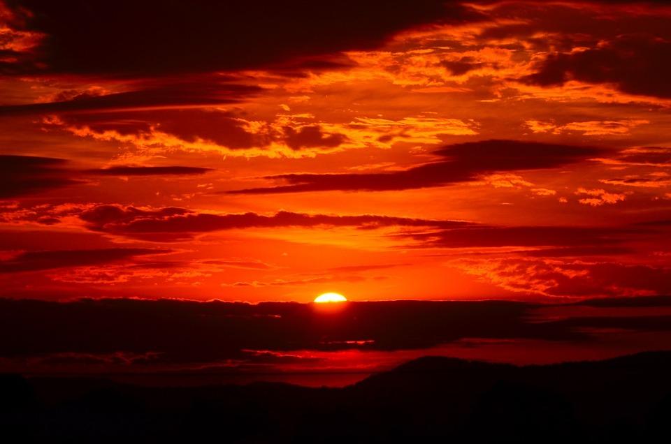 Free photo: Sunset, Red, Sky, Fiery, Orange - Free Image on Pixabay ...