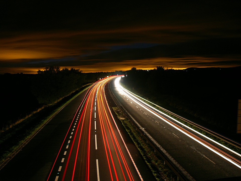 traffic at night by - photo #44