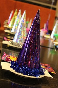 Party Hat, Glitter, Hat, Holiday