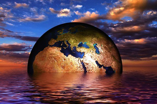 Earth, Globe, Water, Wave, Sea, Lake, Mass Awakening, Spirituality, Apocalypse, Divine Light